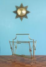 French brass magazine rack - SOLD